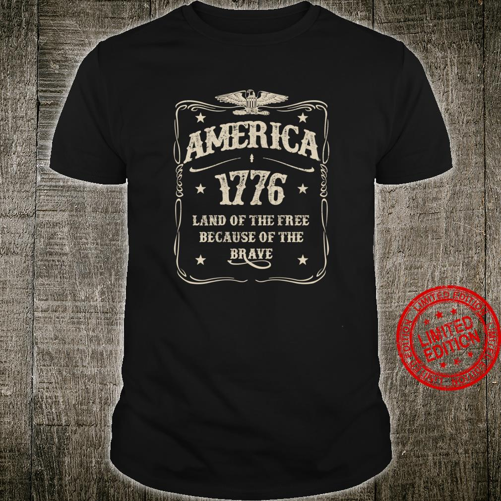 America 1776 Land Of The Free Vintage Shirt