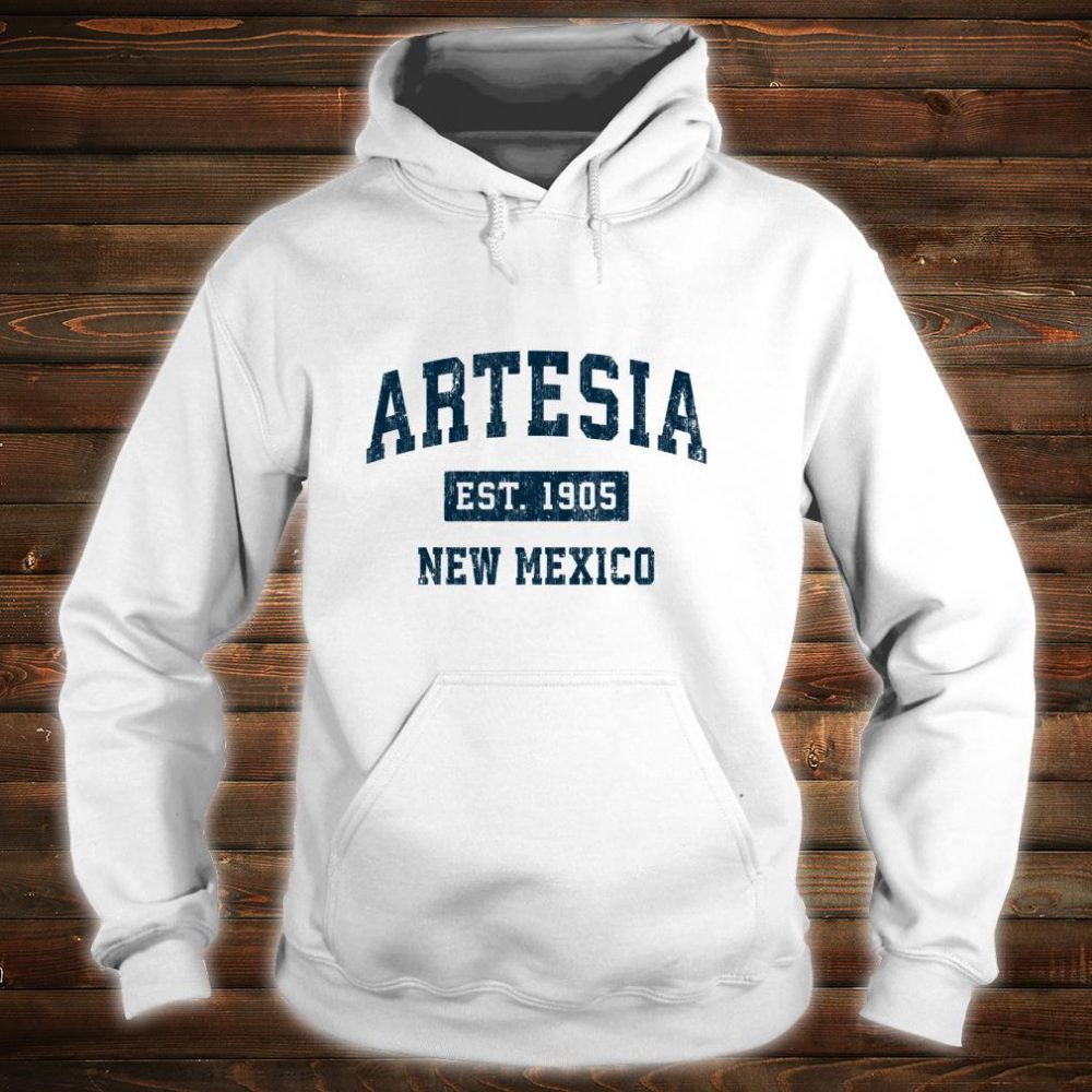 Artesia New Mexico NM Vintage Sports Design Navy Print Shirt hoodie