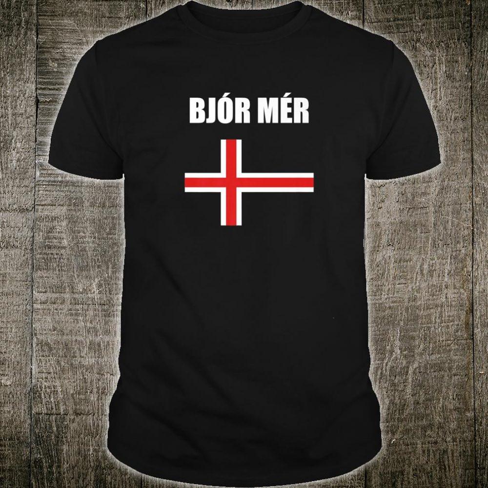 Beer Me Icelandic Cross Souvenir Bjor Mer Iceland Shirt