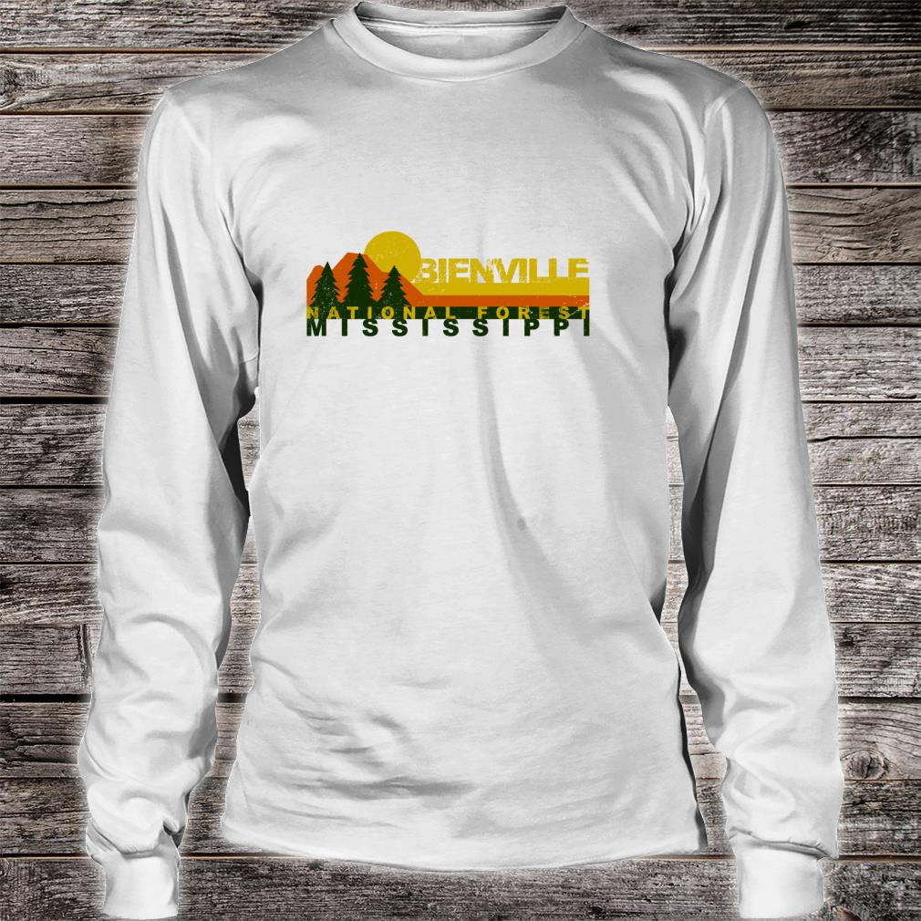 Bienville National Forest Vintage Retro Shirt long sleeved