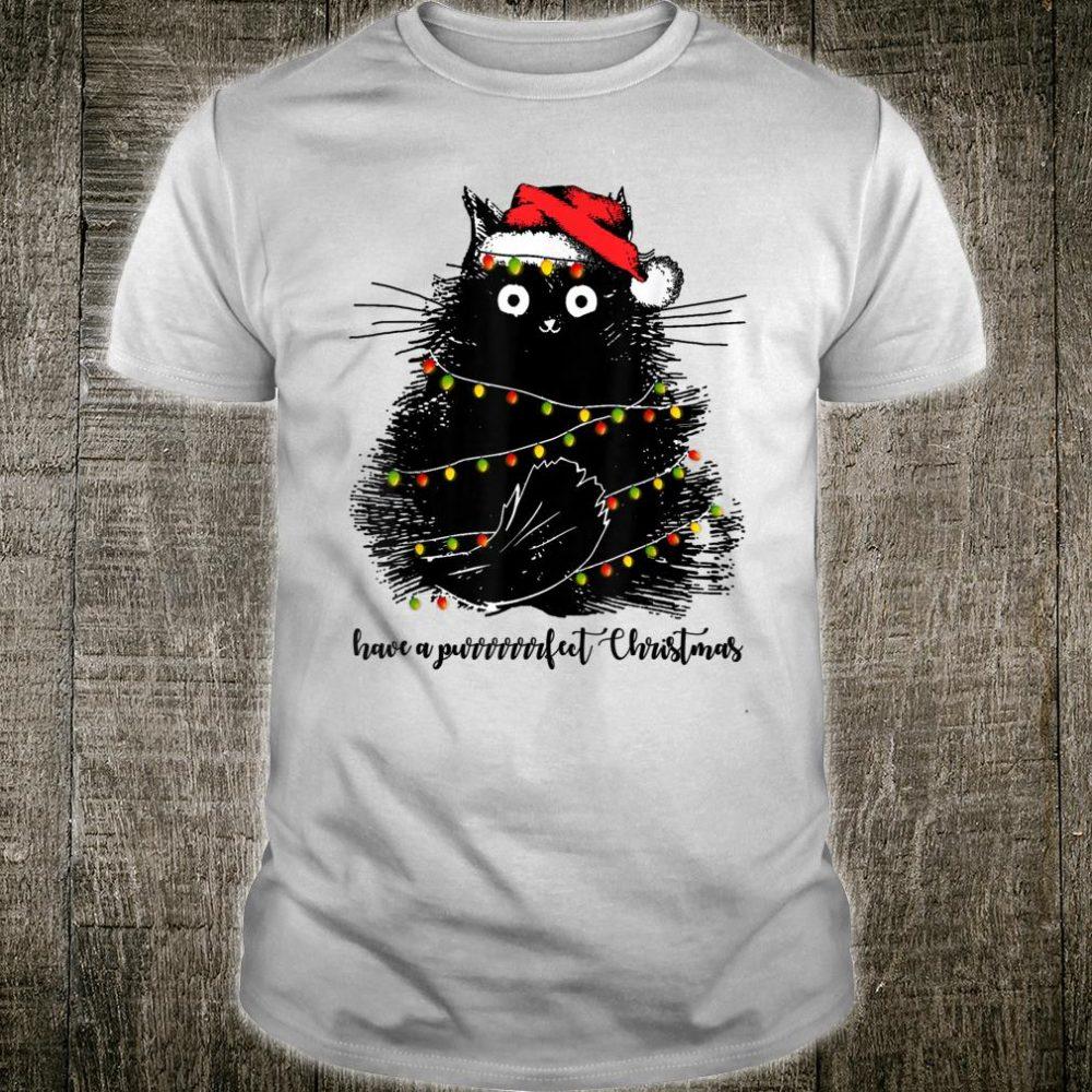 Cat Santa Hat Have A Purrrfect Christmas Cat Shirt