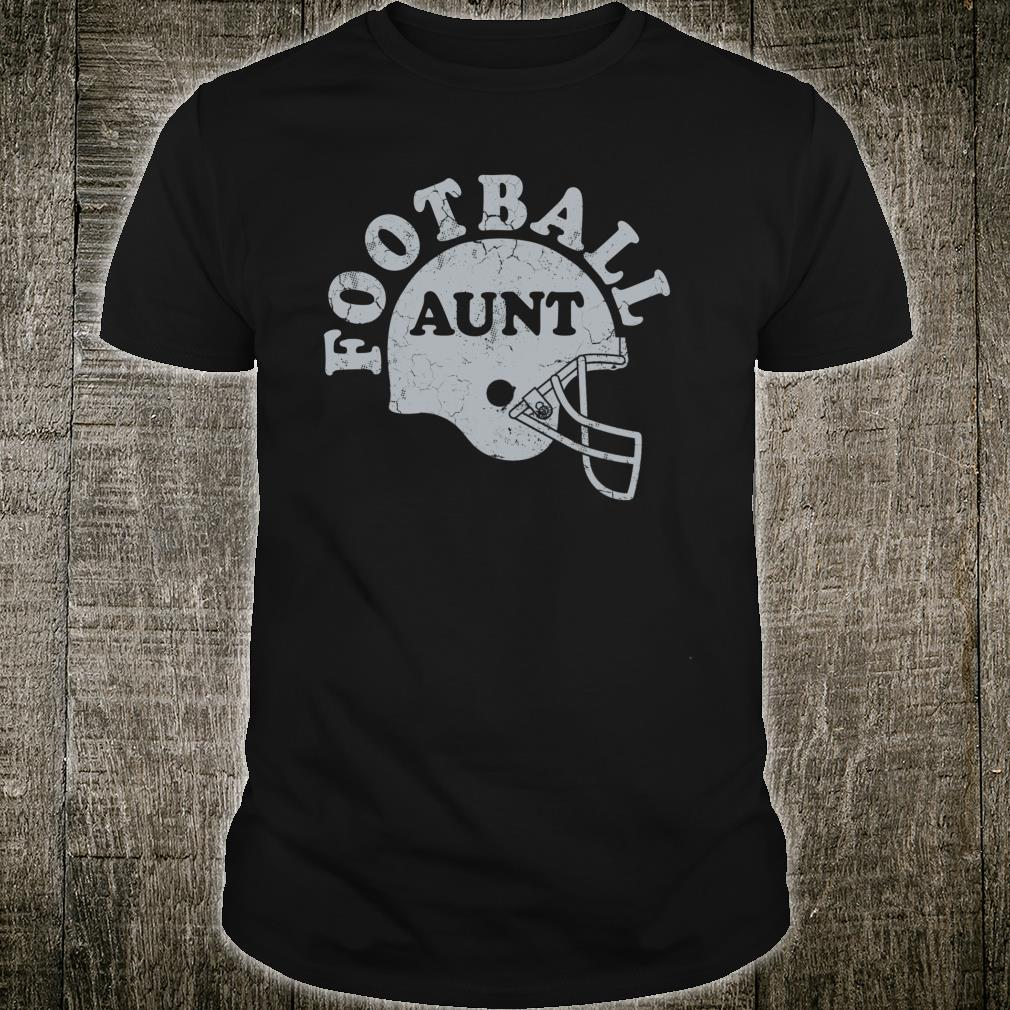 Football Aunt Silver Helmet Game Day Auntie Shirt