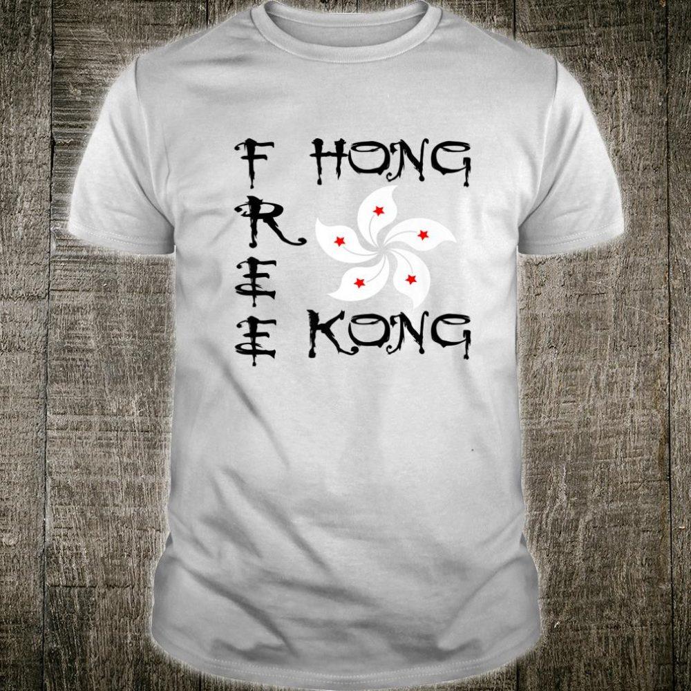 Free Hong Kong Flag Revolution Protest Shirt
