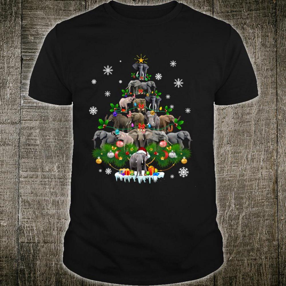 Funny Elephant Christmas Tree Ornament Decor Costume Shirt