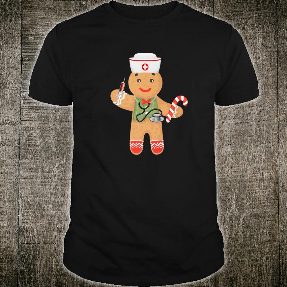 Gingerbread Christmas Nurse Shirt Xmas Holiday Rn Shirt