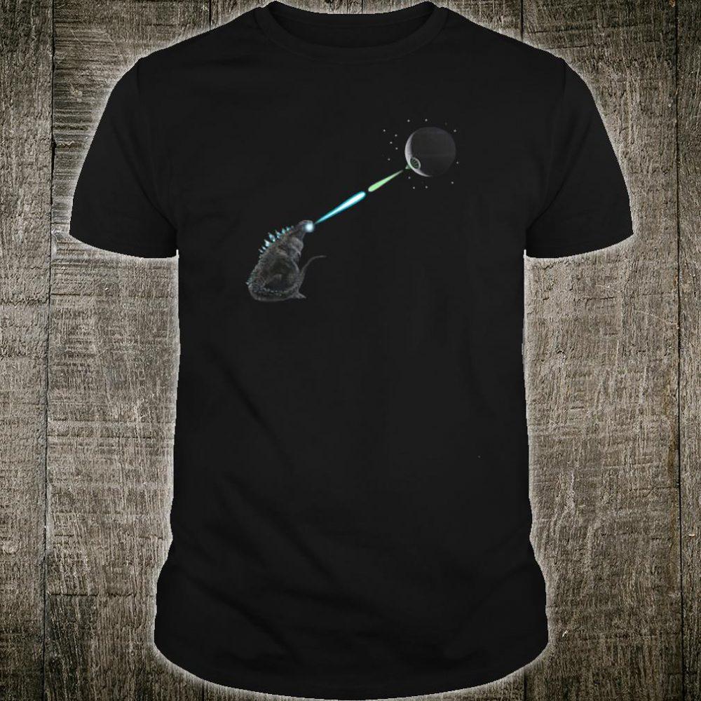 Godzilla shoot the laser shirt