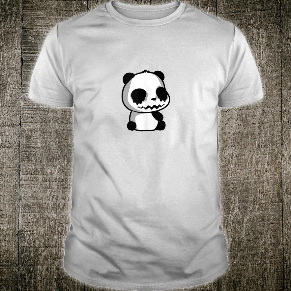 Goth Panda, Black Dripping Eyes Shirt