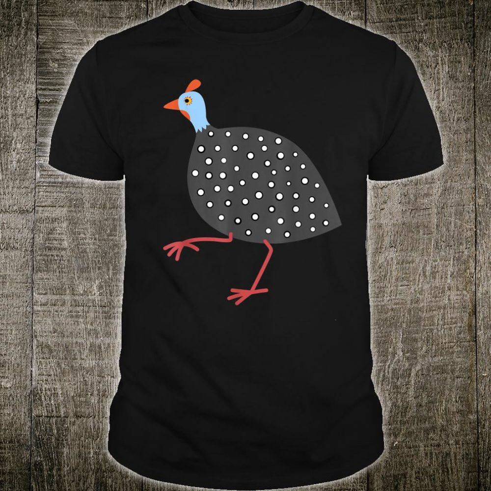 Guinea Fowl Cute Hen Illustration Art Bird Shirt