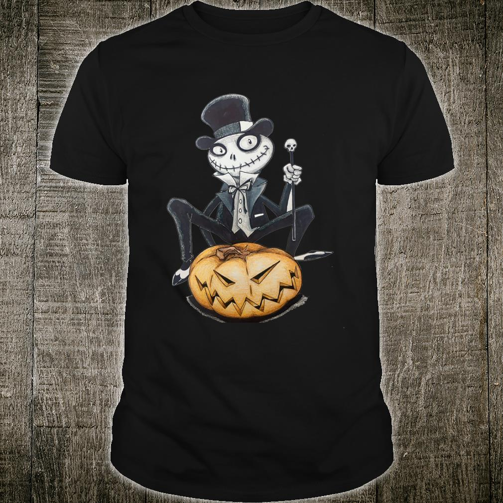 Halloween Creepy character siting on a pumpkin Shirt