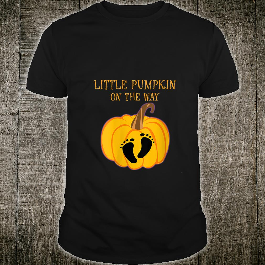 Halloween Little Pumpkin On The Way Pregnancy Cute Shirt