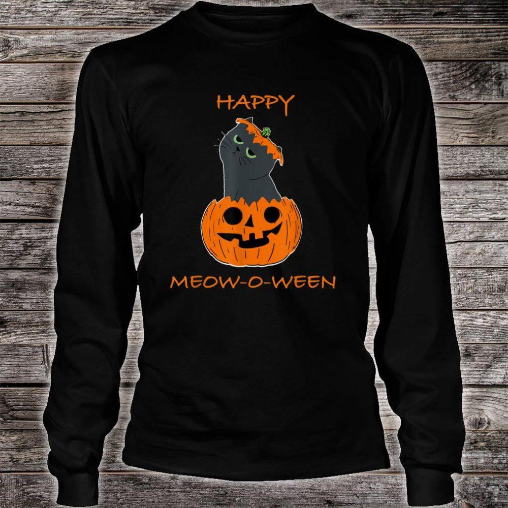 Happy Halloween Meow o ween Shirt long sleeved