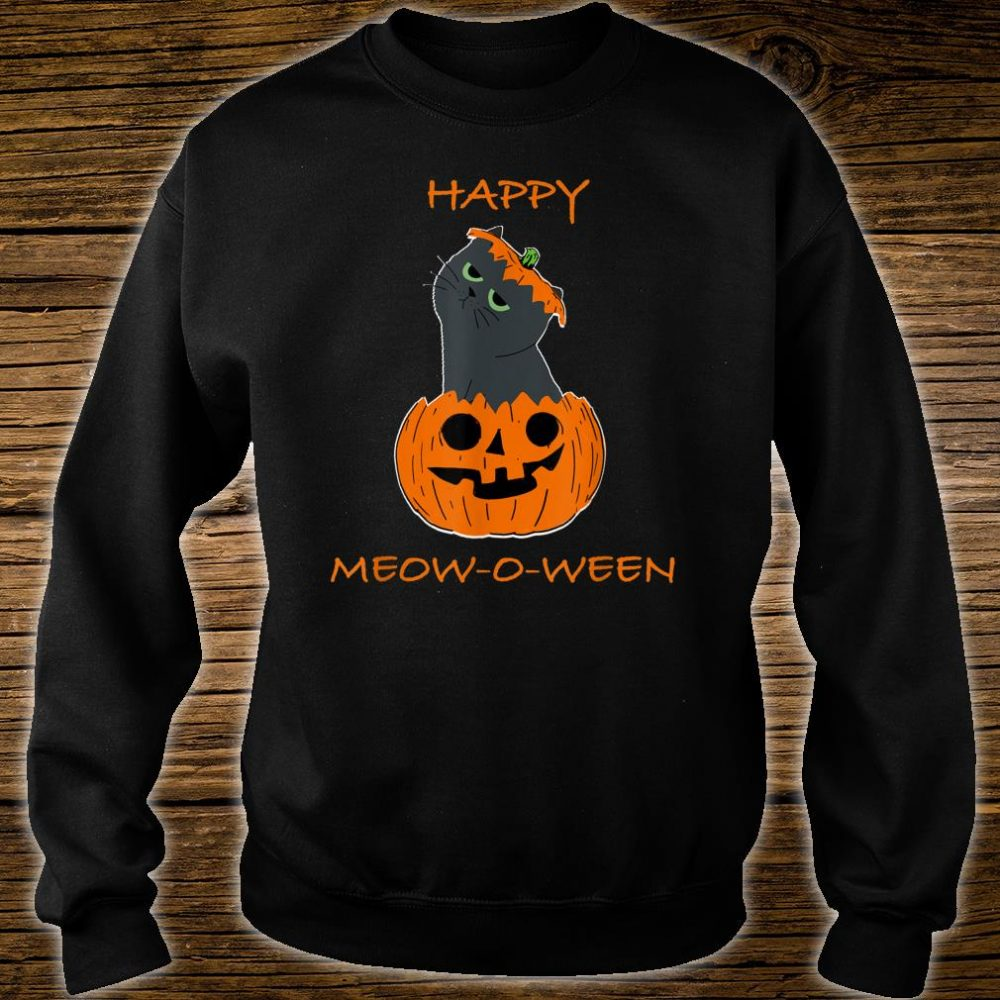 Happy Halloween Meow o ween Shirt sweater
