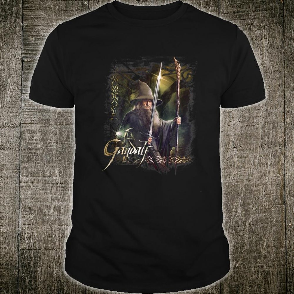 Hobbit Gandalf Sword and Staff Shirt