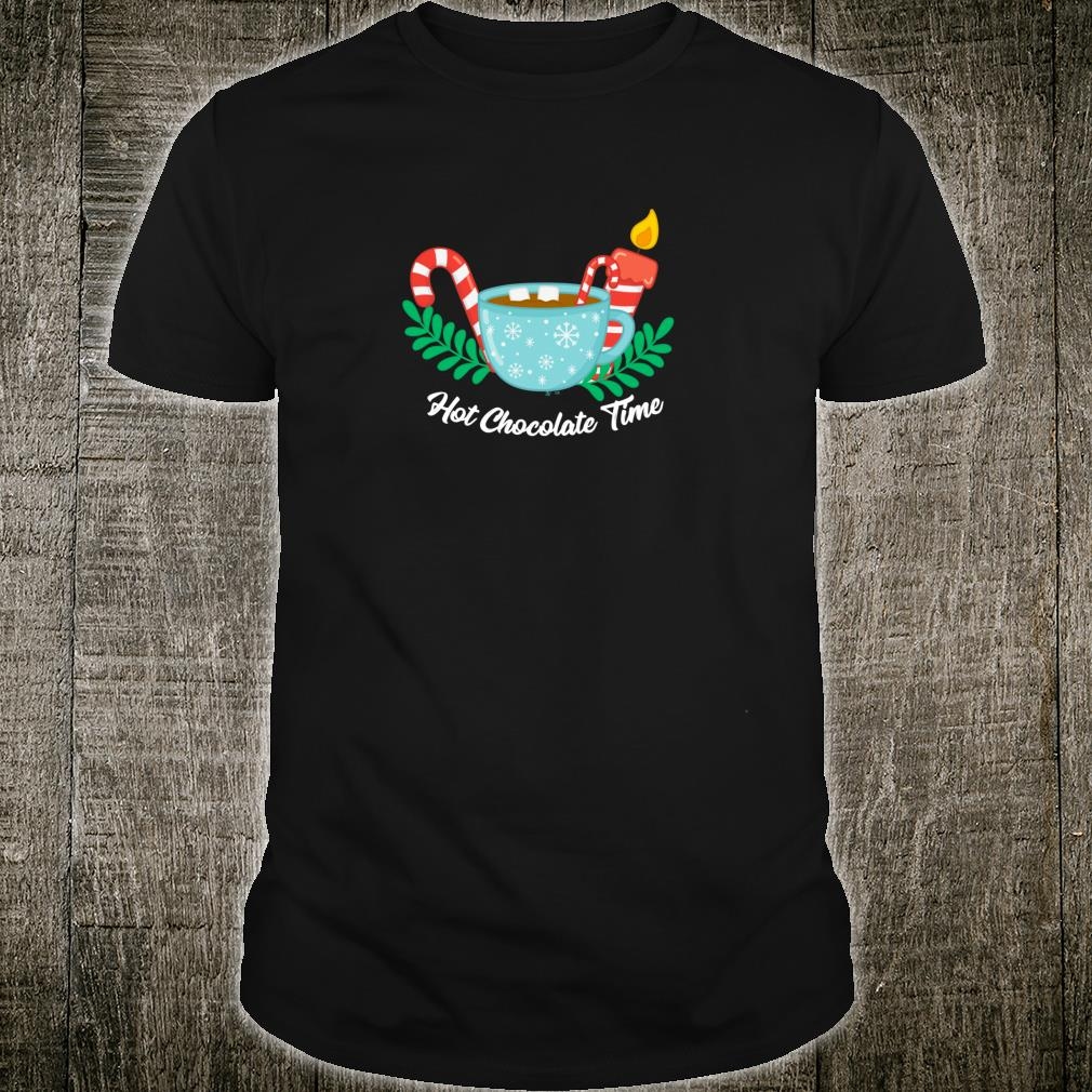 Hot Chocolate Time Marshmallow Candy Cane Christmas Shirt