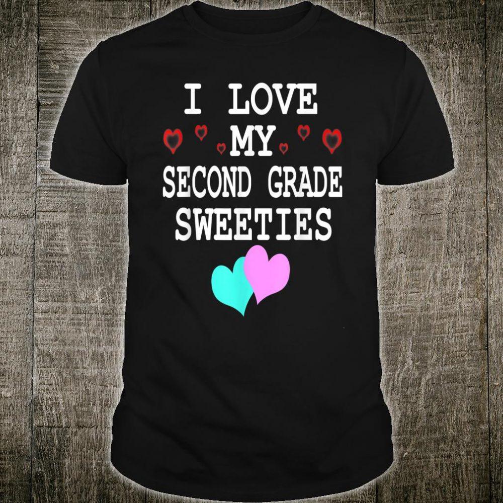 I Love My Second Grade Sweeties Shirt Teacher Valentine Day Shirt