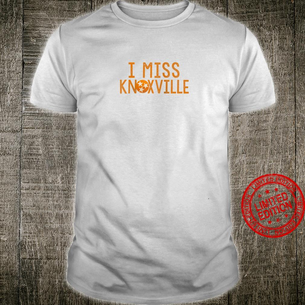I Miss Knoxville Tennessee Love State Flag Stars Distressed Shirt