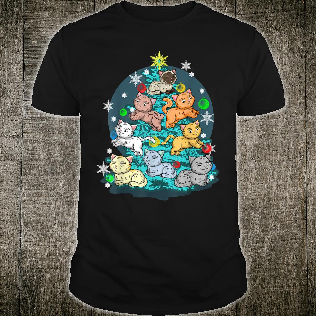 Kitty Cat Christmas Tree Holiday Crazy Cute Rescue Pet Shirt