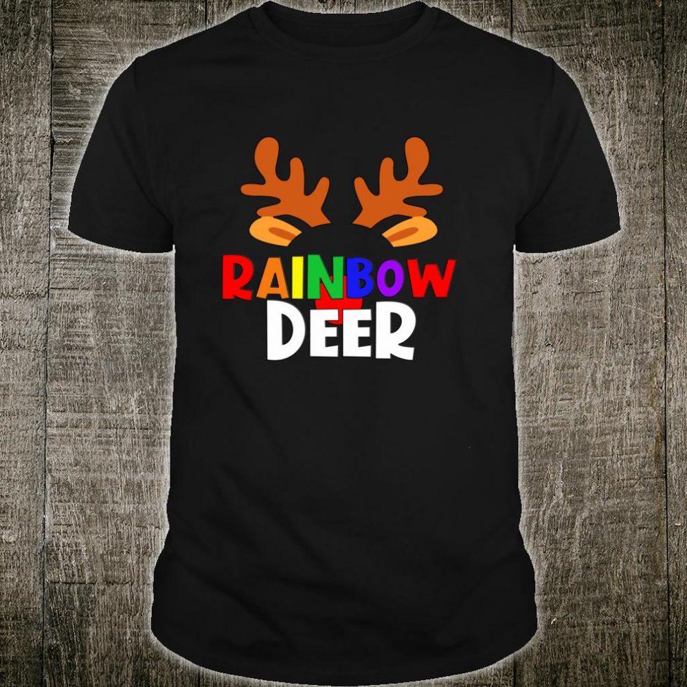 LGBT Rainbow Deer Matching Family Pride Christmas Reindeer Shirt
