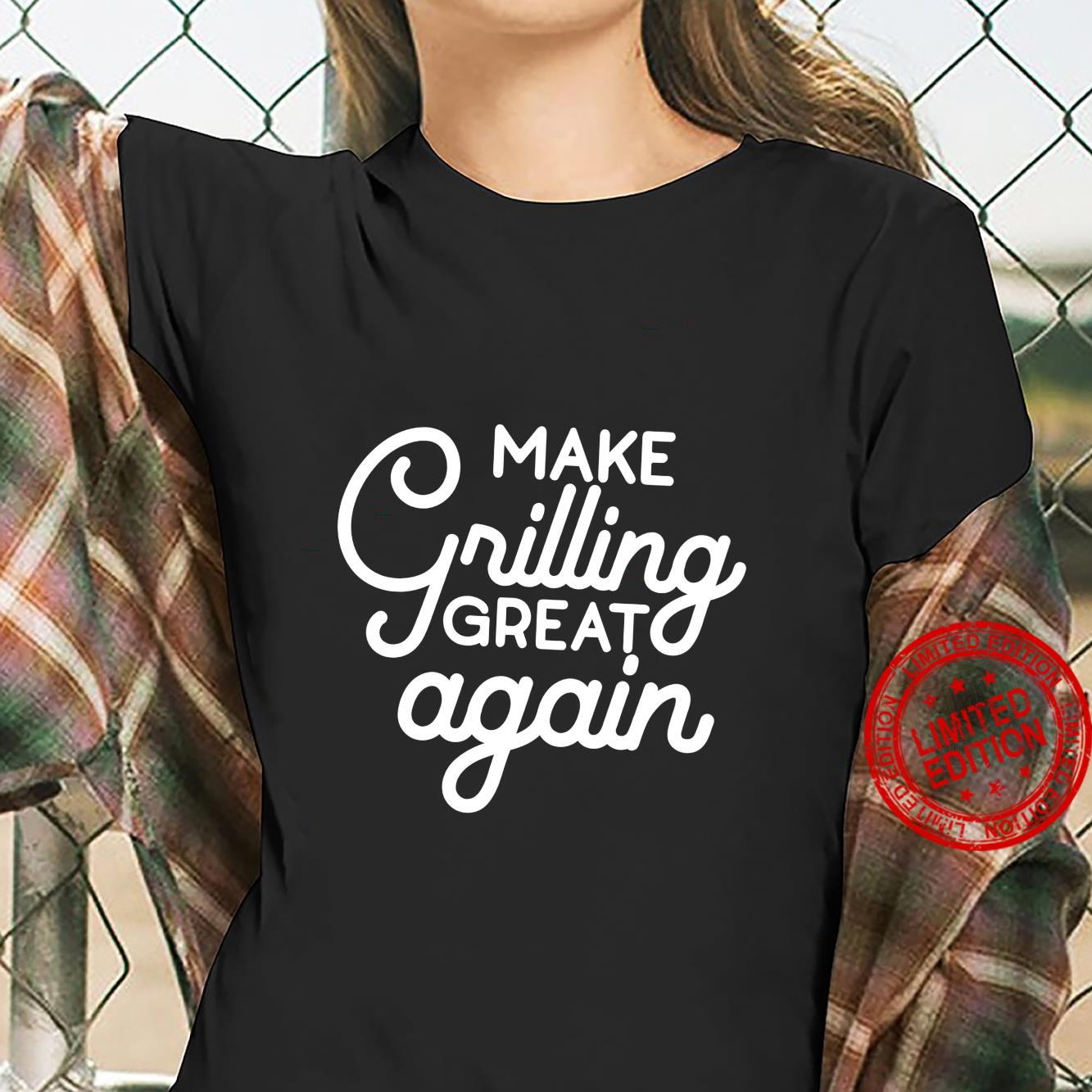 Make Grilling Great Again BBQ Pit Crew Shirt ladies tee