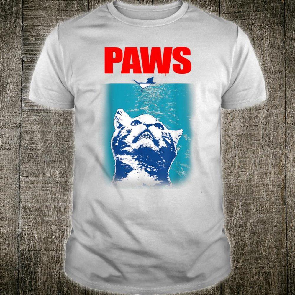 Paws Parody s for Cat Kitten Shark & Cat Shirt