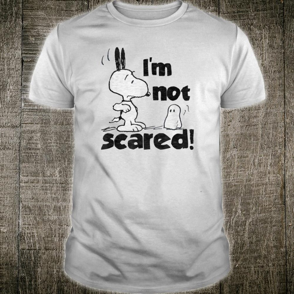 Peanuts Halloween Snoopy I'm Not Scared Shirt