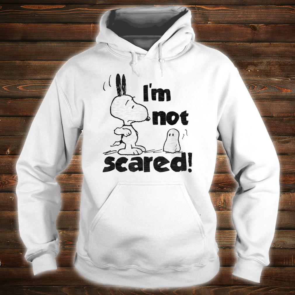 Peanuts Halloween Snoopy I'm Not Scared Shirt hoodie