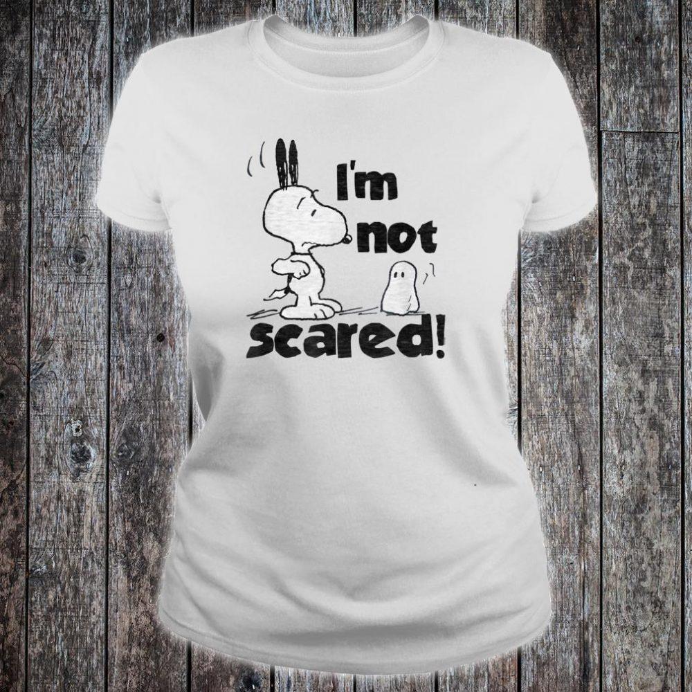 Peanuts Halloween Snoopy I'm Not Scared Shirt ladies tee