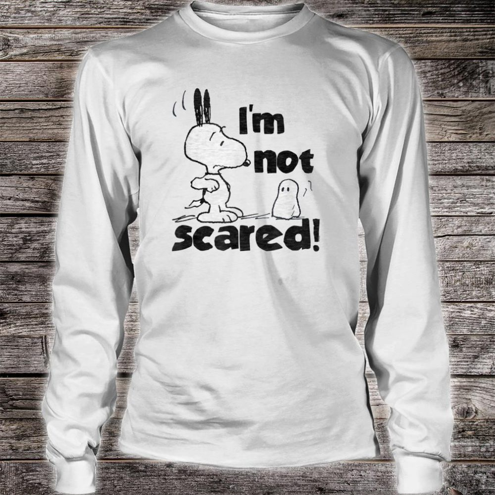 Peanuts Halloween Snoopy I'm Not Scared Shirt long sleeved