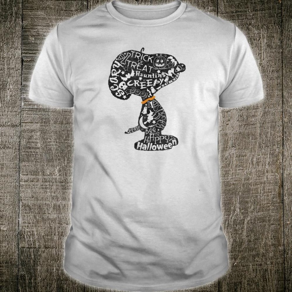Peanuts Halloween Snoopy Silhouette Shirt