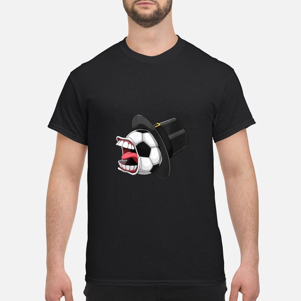Pilgrim Scream Soccer Ball Sports Game Halloween Scary Shirt