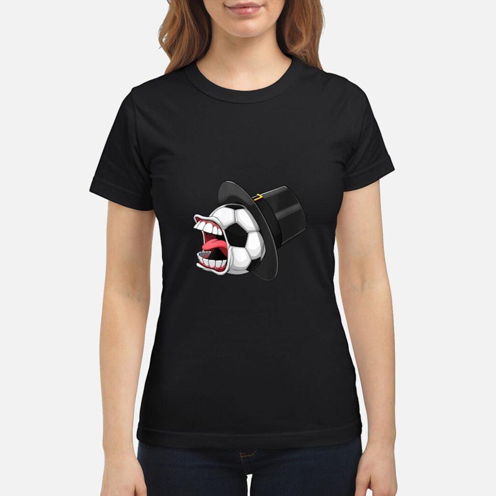 Pilgrim Scream Soccer Ball Sports Game Halloween Scary Shirt ladies tee