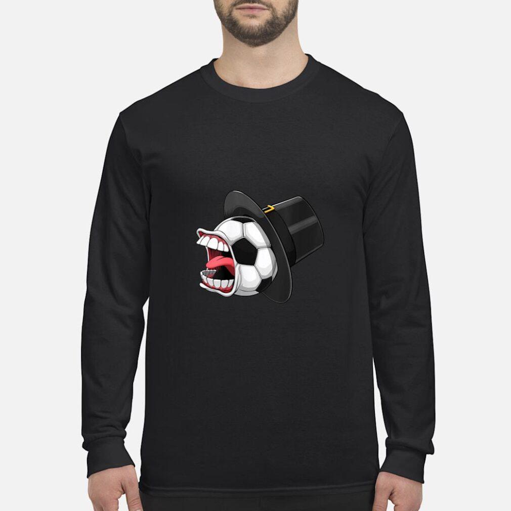 Pilgrim Scream Soccer Ball Sports Game Halloween Scary Shirt long sleeved