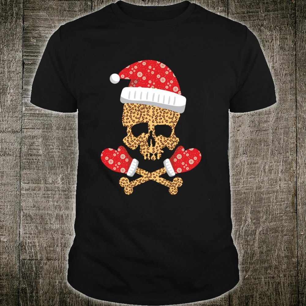 Pirate santa hat christmas leopard Shirt