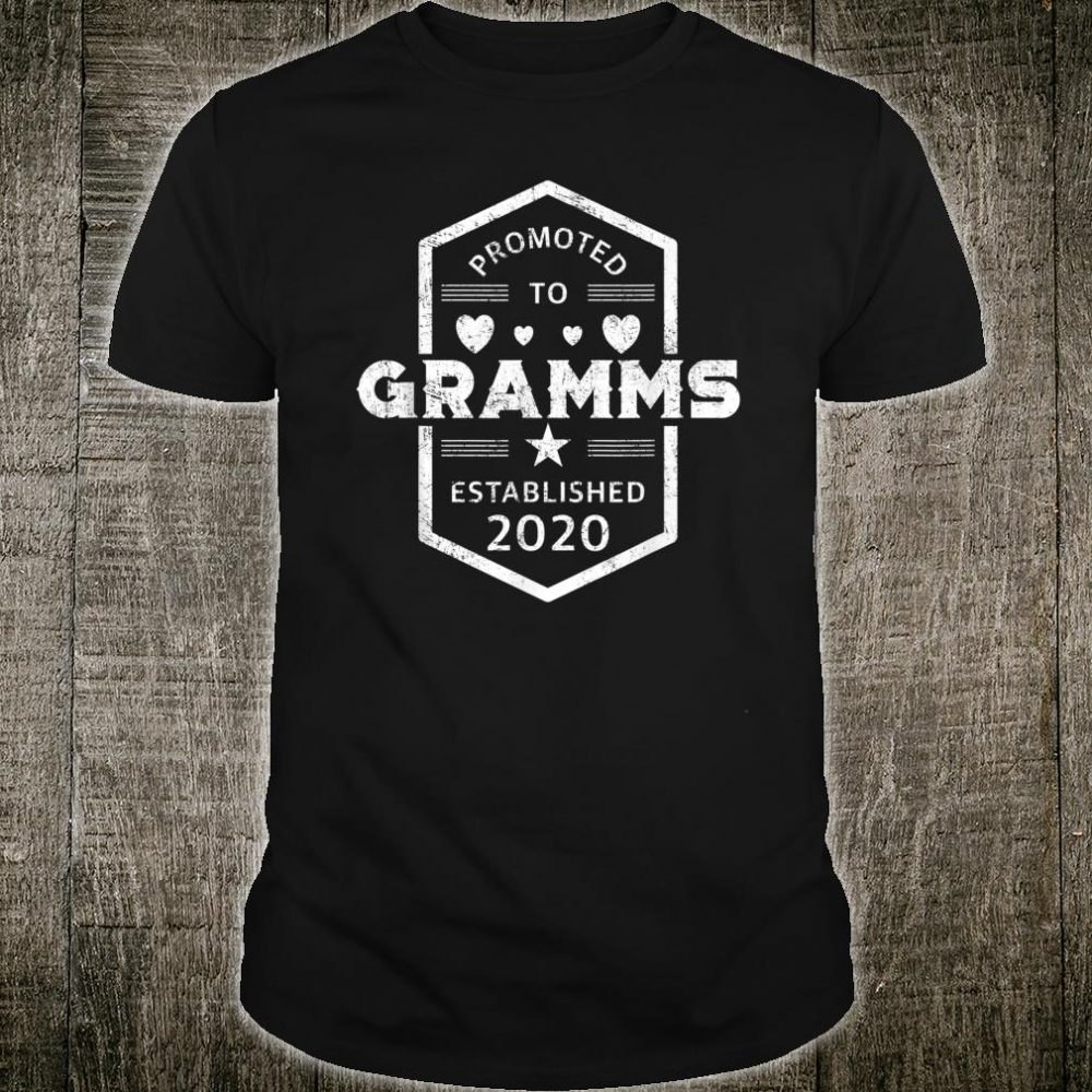 Promoted to Gramms 2020 Established 2020 Shirt