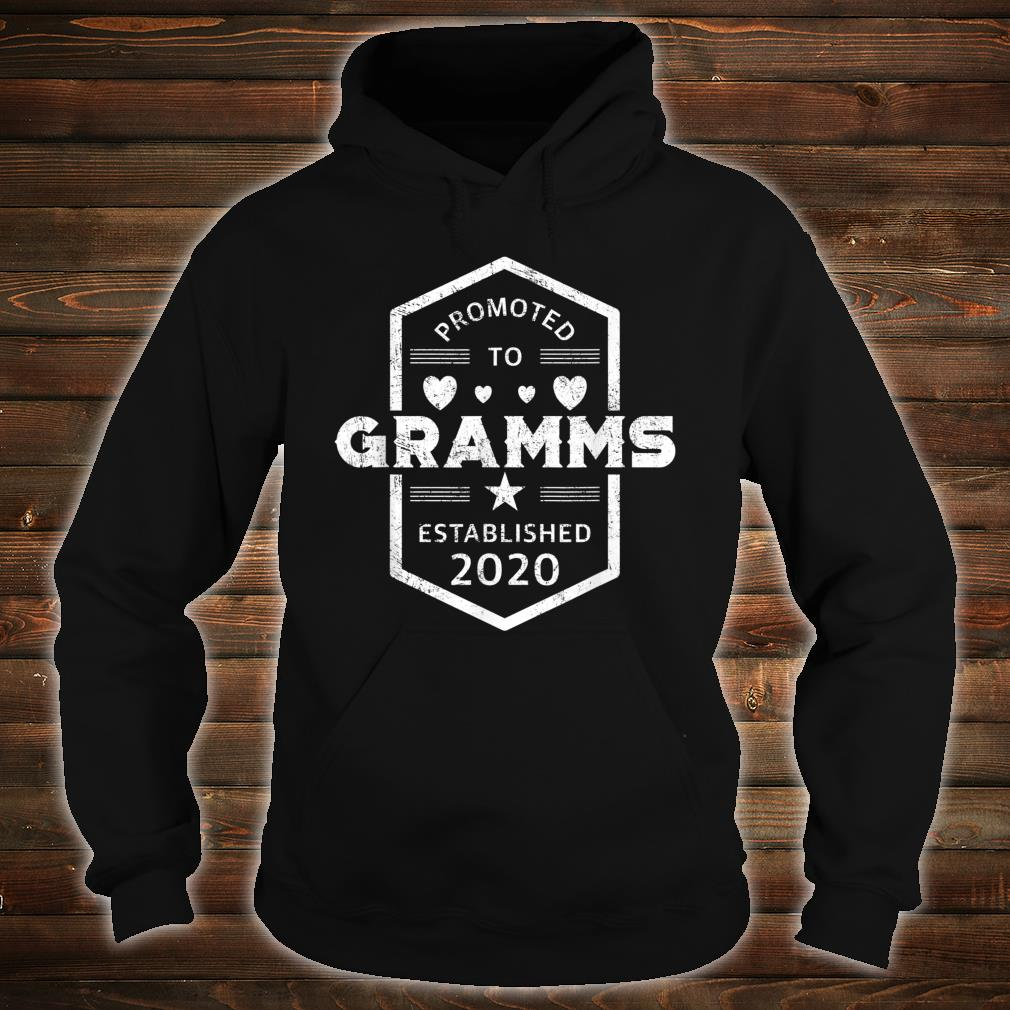 Promoted to Gramms 2020 Established 2020 Shirt hoodie