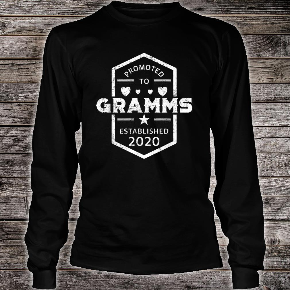 Promoted to Gramms 2020 Established 2020 Shirt long sleeved
