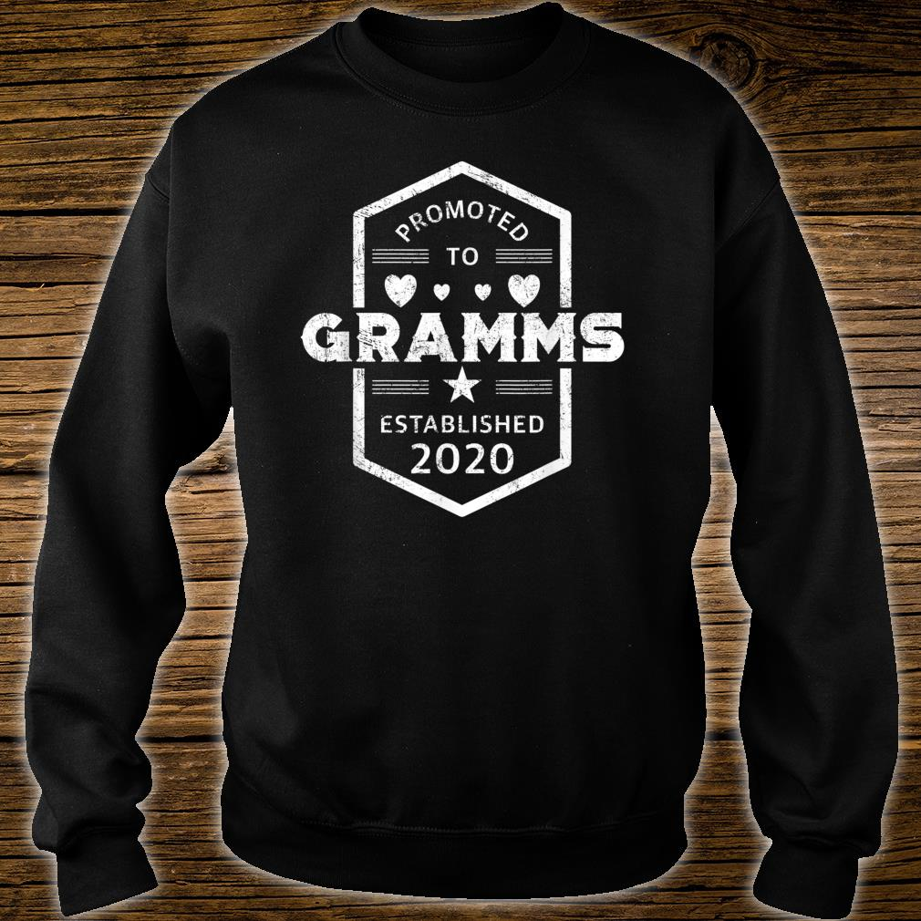 Promoted to Gramms 2020 Established 2020 Shirt sweater