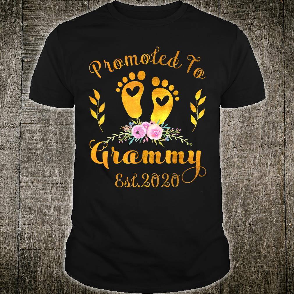 Promoted to Grammy Est 2020 Grandma To Be Shirt