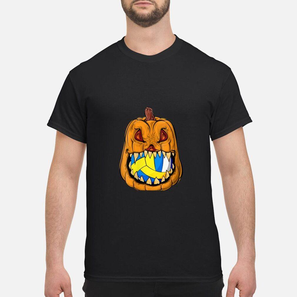 Pumpkin Carving Eat Volleyball Ball Halloween Shirt