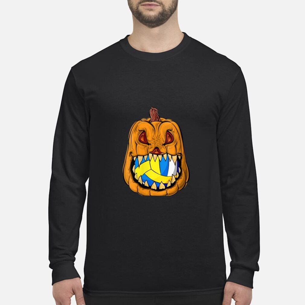 Pumpkin Carving Eat Volleyball Ball Halloween Shirt long sleeved