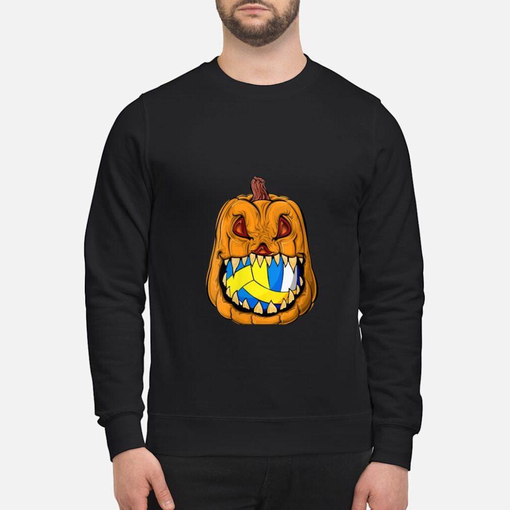 Pumpkin Carving Eat Volleyball Ball Halloween Shirt sweater