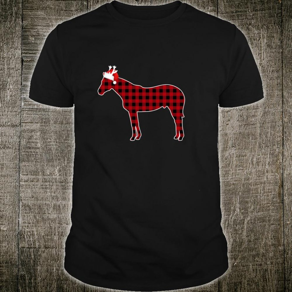 Red Buffalo Plaid Pajamas Horse Christmas Matching Family Shirt
