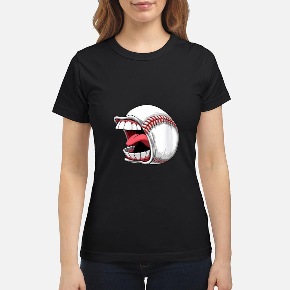 Scream Baseball Sports Game Halloween Scary Shirt ladies tee