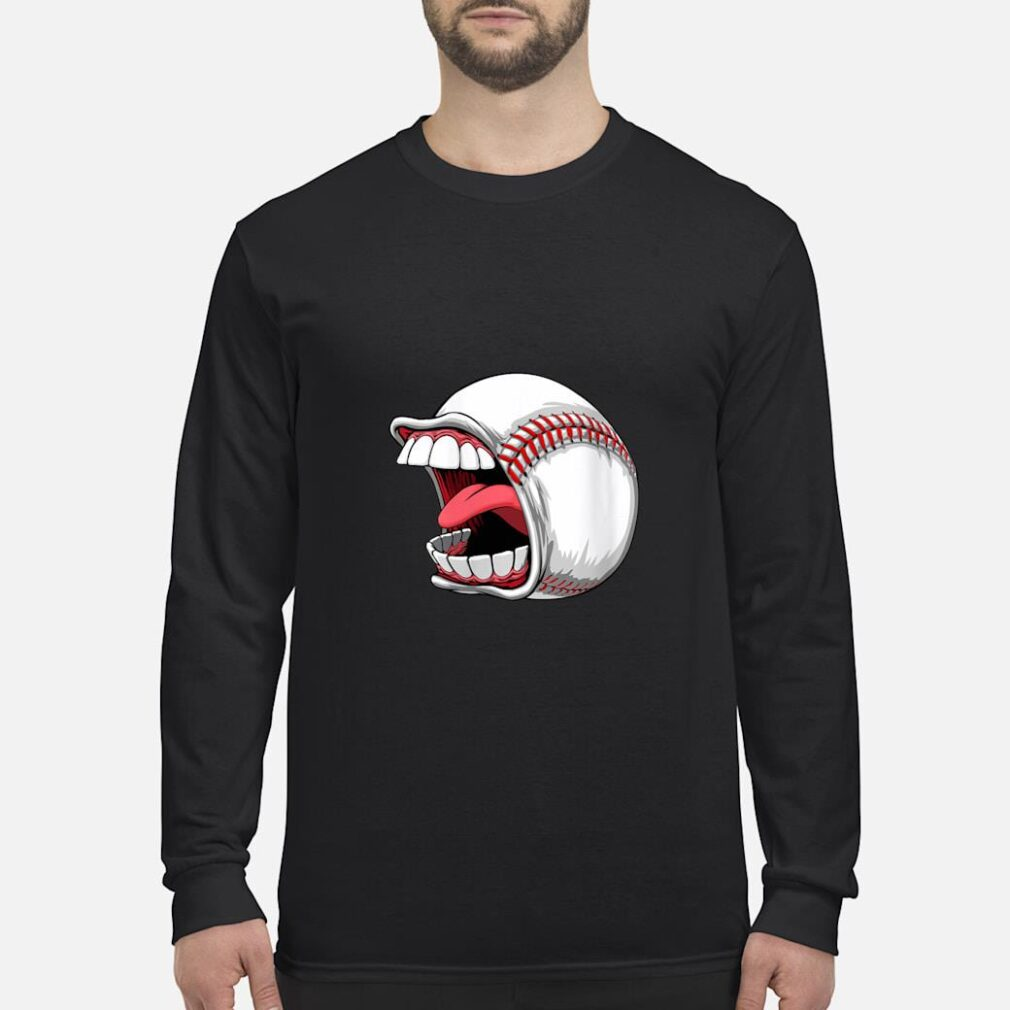 Scream Baseball Sports Game Halloween Scary Shirt long sleeved