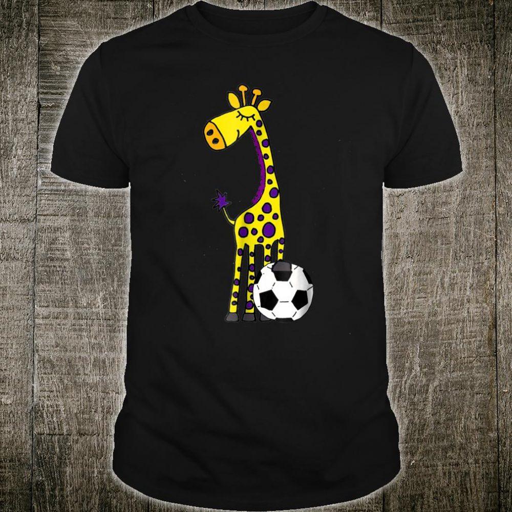 Smilealots Giraffe Playing Soccer Shirt