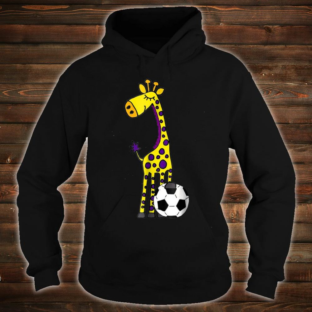 Smilealots Giraffe Playing Soccer Shirt hoodie
