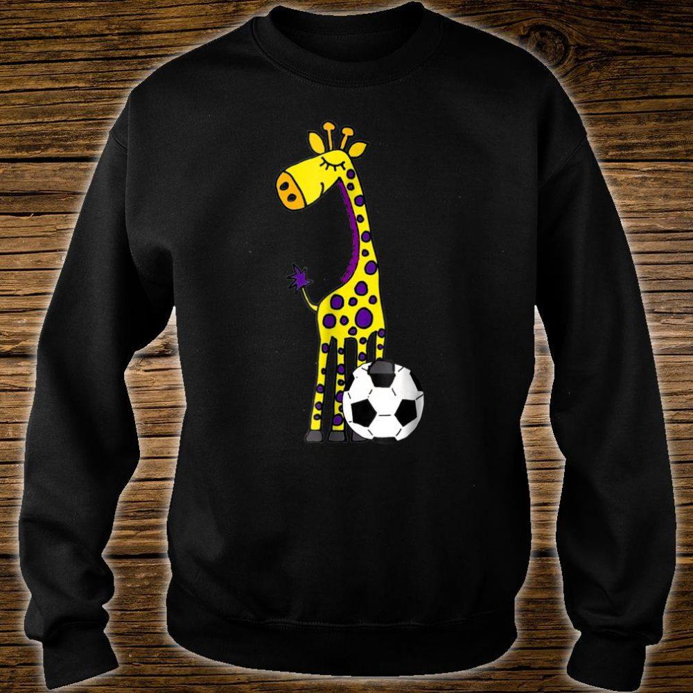 Smilealots Giraffe Playing Soccer Shirt sweater