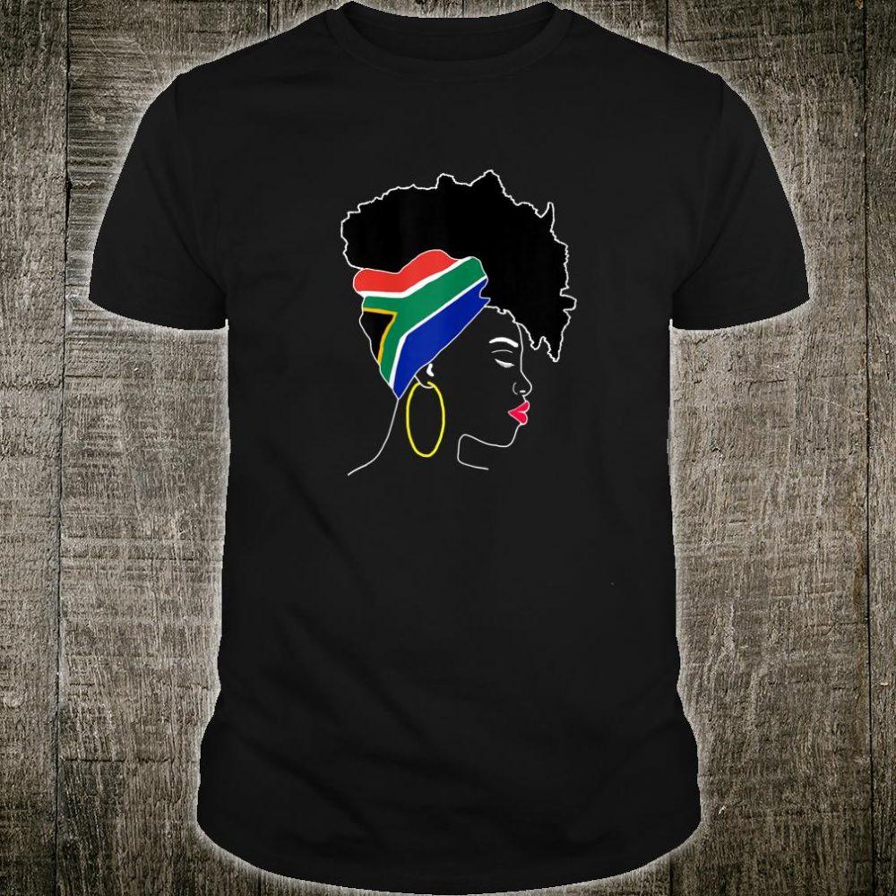 South African patriotic girl flag Shirt