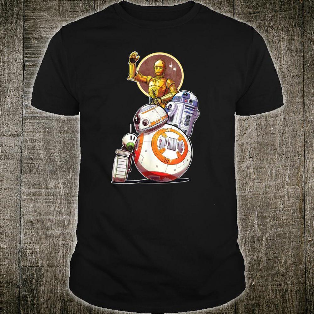 Star Wars Rise of Skywalker Droids Collage Shirt