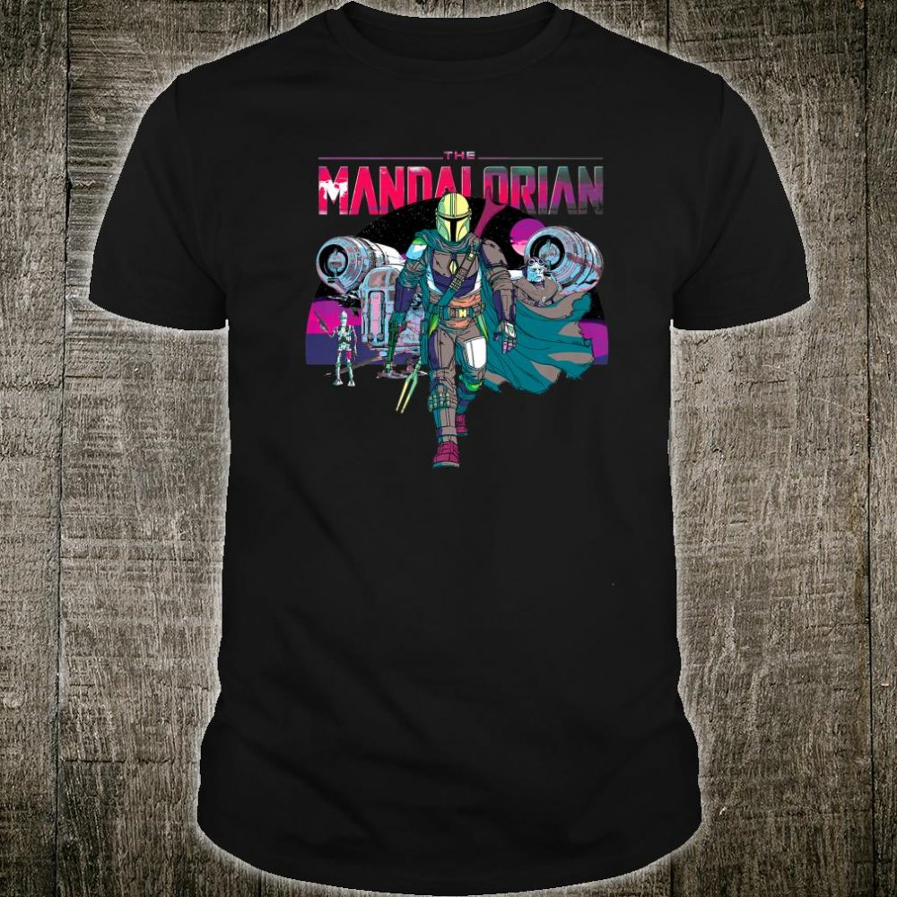 Star Wars The Mandalorian IG88 Neon Poster Shirt